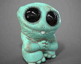 3D model Cute Green Monster Of Clay