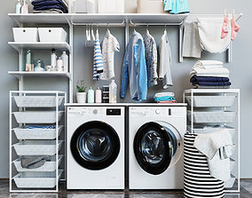 3D model Laundry Set Ikea 1