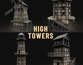 3D model ENTERABLE HIGH TOWER WATCHTOWER COLLECTION 1
