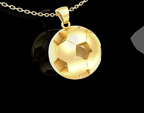 Soccer Football Pendant jewelry Gold 3D print model