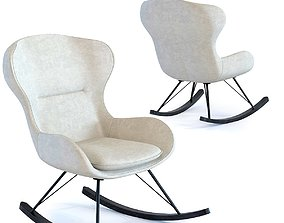 3D kare Rocking Chair Oslo