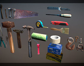 Tools instrument low poly 3D asset