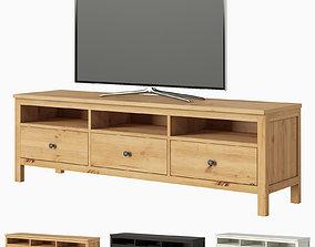 IKEA HEMNES TV unit and TV 3D model