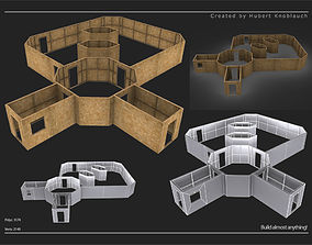 low-poly modular assets construction site level
