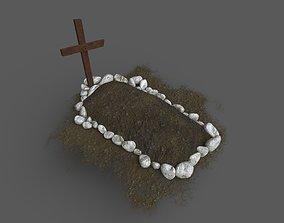 Grave 3D asset game-ready