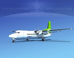 Fokker 50 Air Baltic 3D model