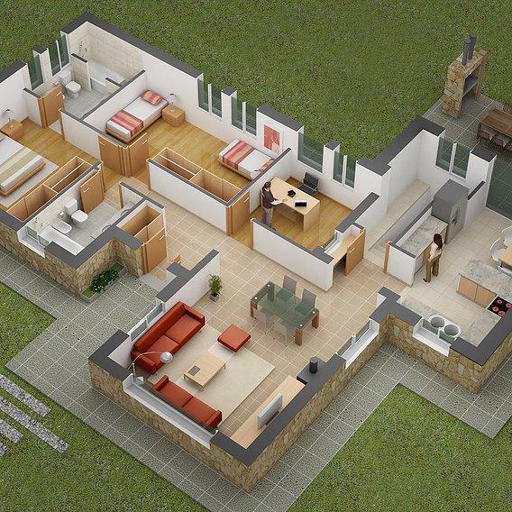 3D Floor Plans Design Studio