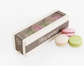 Macarons Box Pack 3D asset