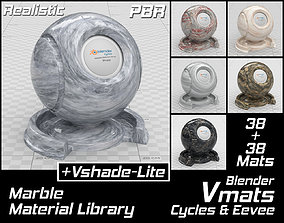 3D VMATS Marble Material Library for Blender Cycles and 1