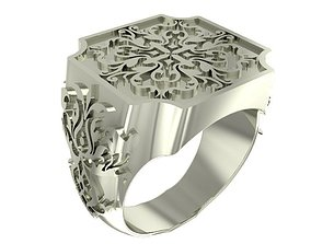 3D print model Cube style signet ring