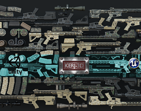 Modular Combat Rifle-All Variants 3D model
