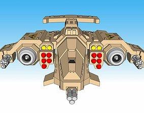 3D printable model 6mm and 8mm Hawkstorm Gunship