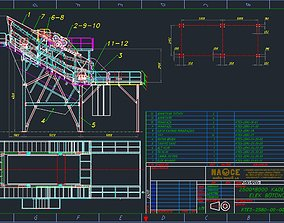 3D Nace twin shaft vibration screen