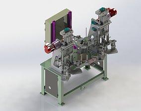 3D model Motor rotor welding and inspection equipment
