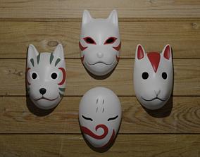 3D asset ANBU masks from Naruto