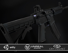 3D model M4A1 RIS High detail