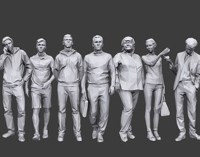 Lowpoly People Casual Pack Volume 17 3D model