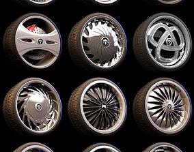 3D 15 Beautiful rims Pack