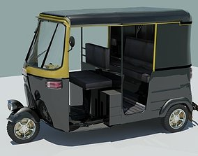 Indina auto rickshaw black 3D model