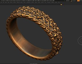 High detailed ring 3D print model 3D print