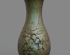 Vase with lilies stl 3D printable model