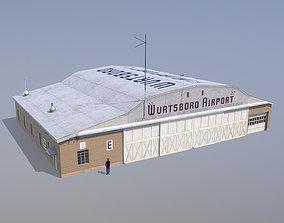 Wurtsboro Airport Hangar E 3D asset realtime