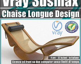 design 001 Vray 3ds max Chaise Longue Design Volume 1