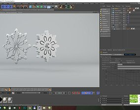 cutting down snowflakes for cookies 3D printable model