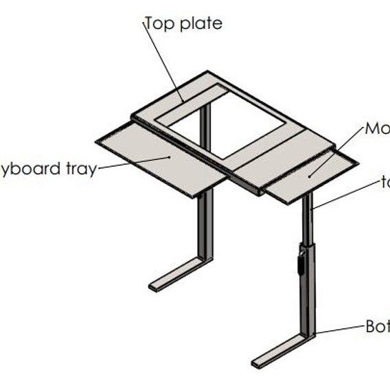 Height varying laptop table with cooing pad