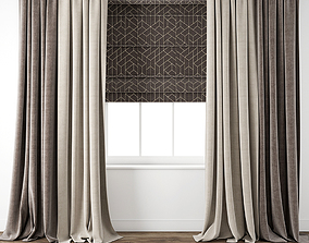 Curtain 75 with window 3D model