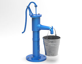 3D Water pump and bucket