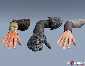 AAA Animated Medieval First Person Arms Pack 3D model