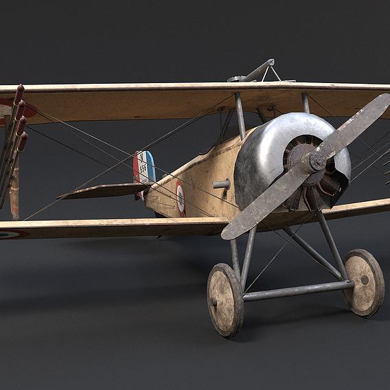 WWI Nieuport 11 Airplane
