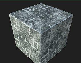 3D model snow Snow brick free texture seamless PBR