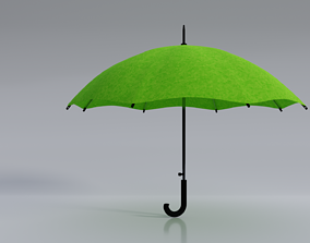 3D Green Umbrella