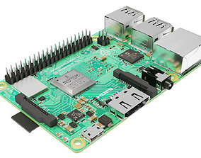 3D asset Raspberry pi 3B plus