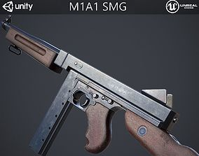 M1A1 Submachine Gun 3D model