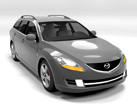 3D model MAZDA 6 ESTATE 2009 LOWPOLY