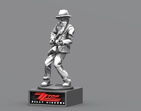 billy gibbons zz top - 3Dprinting