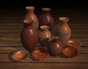 3D asset Ancient Breakable Pottery