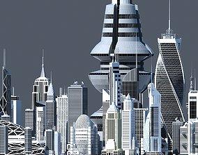 55 Skyscraper Collection 3D model
