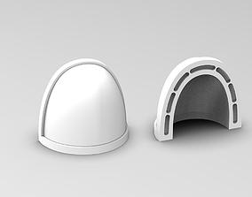 Blank Shoulder Guards 3D printable model