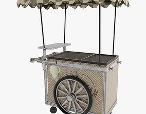 3d Ice cream cart 3D model