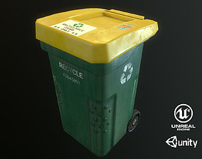 3D model Plastic Trash Bin prop pbr