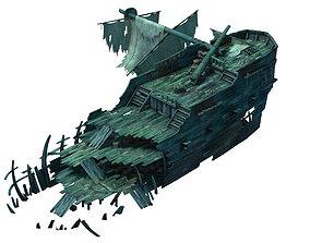 3D Game Gulf Shipwreck - Wreck 5 ox