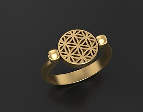 Ring Flower of Life Ring Seed Of Life 3D printable model