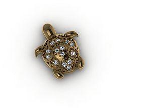 3D printable model Ready to print jewelry Turtle pendant