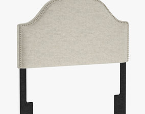 Glam Upholstered Arch Headboard by Pulaski PU5477 3D model