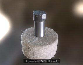 Groundwater Measure Pipe Low-Poly and High-Poly 3D 1