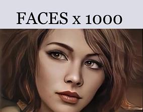 woman 3D faces with 2D portraits x1000